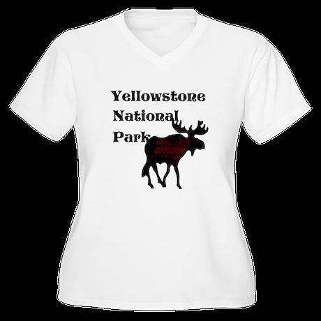Personalized Moose Women's Plus Size V-Neck T-Shir