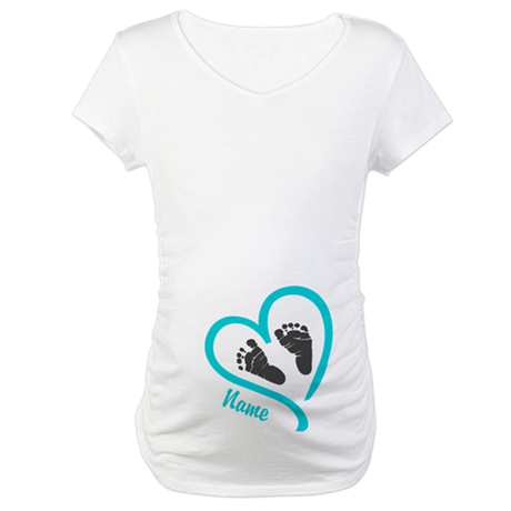 baby heart blue personalized shirt by hotmommatees