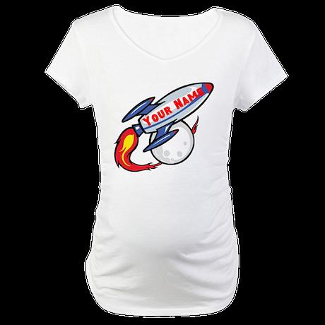 Personalized rocket Maternity T-Shirt