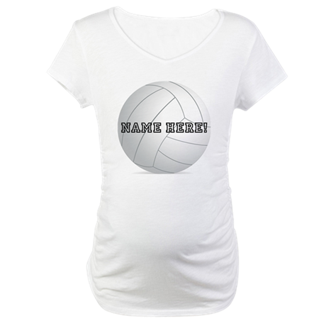 Personalized Volleyball Player Maternity T-Shirt