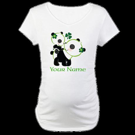 Personalized Irish Panda Maternity T-Shirt