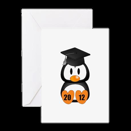 Custom Gradution Penguin Greeting Card