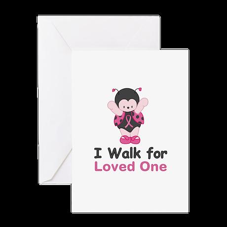 Walk For Ladybug Greeting Card