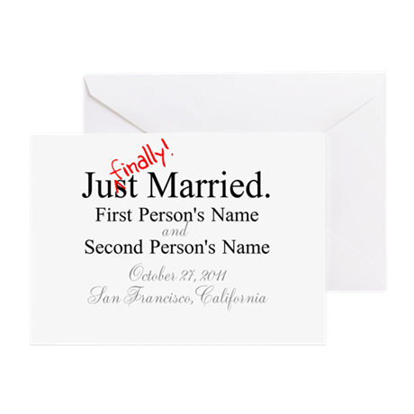 Finally Married Greeting Card