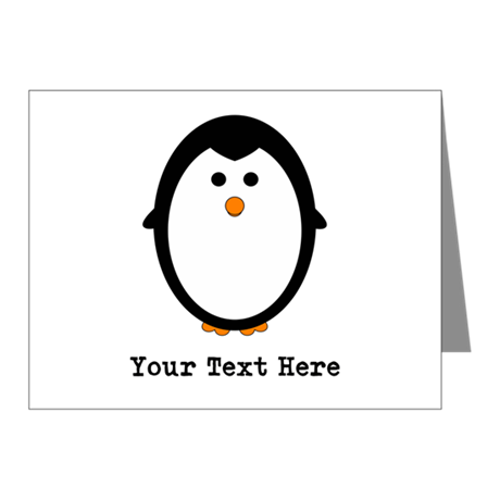 Personalized Penguin Note Cards (Pk of 10)