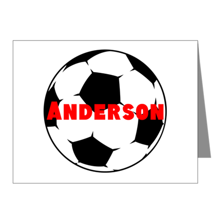 Personalized Soccer Note Cards (Pk of 10)