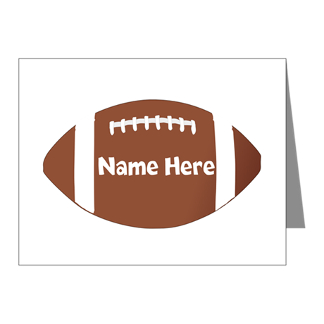 Personalized Football Note Cards (Pk of 10)