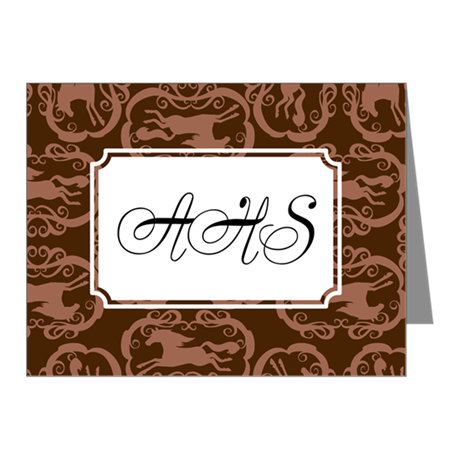 Horse Silohuette Brown Note Cards (Pk of 10)