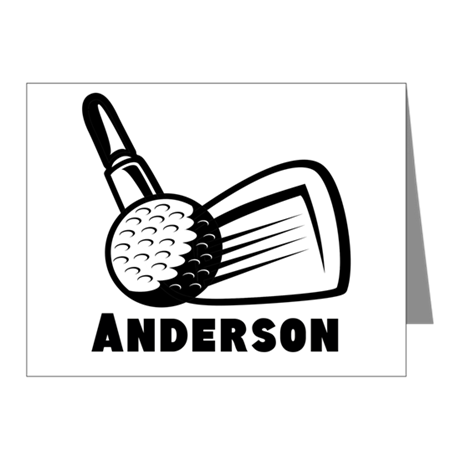 Personalized Golf Note Cards (Pk of 20)