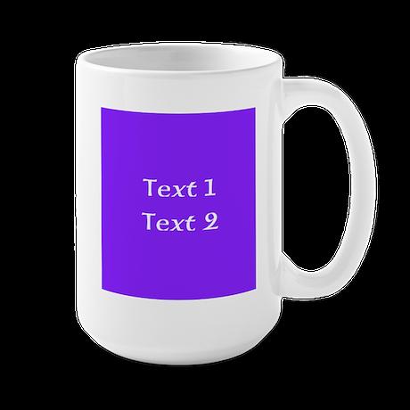 Purple with Nice Custom Text. Large Mug