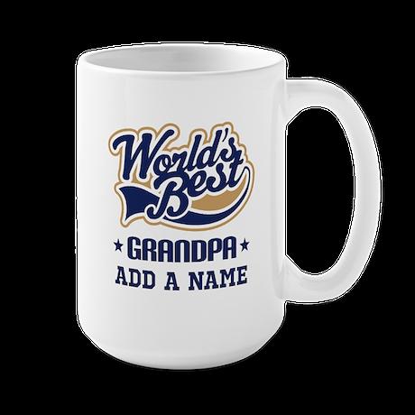 Personalized Worlds Best Grandpa Mugs