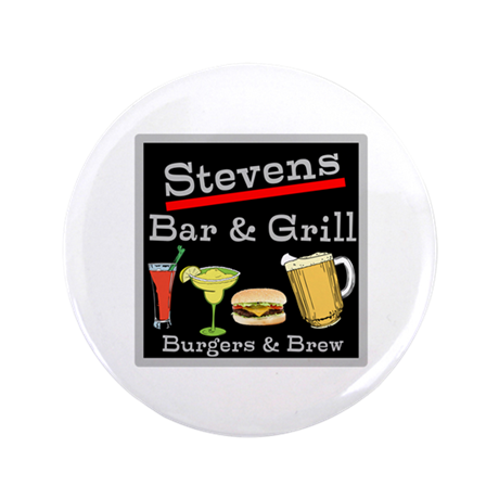 """Personalized Bar and Grill 3.5"""" Button"""