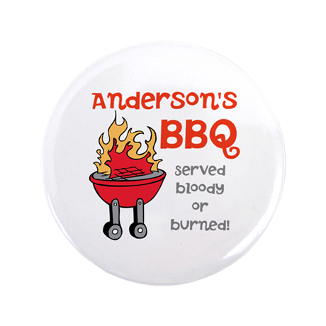 """Personalized BBQ 3.5"""" Button"""