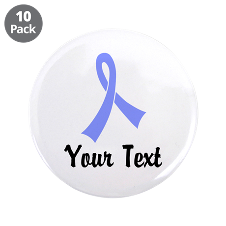 """Personalized Periwinkle Ribb 3.5"""" Button (10 pack)"""