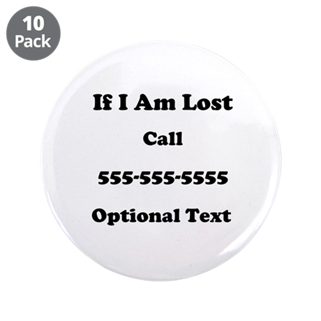 """Call Me 3.5"""" Button (10 pack)"""