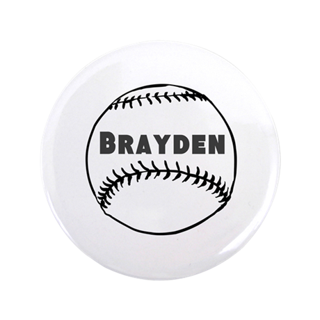 """Personalized Baseball 3.5"""" Button (100 pack)"""