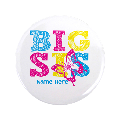 """Butterfly Big Sis 3.5"""" Button (100 pack)"""