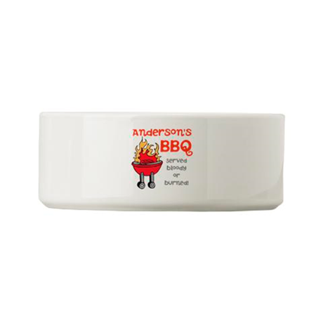 Personalized BBQ Small Pet Bowl