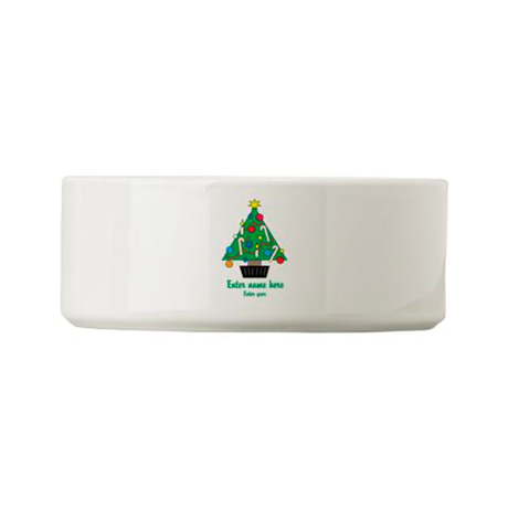 Personalized Christmas Tree Small Pet Bowl