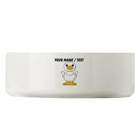 Custom Cartoon Duck Large Pet Bowl