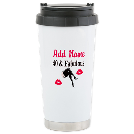 PERSONALIZED 40 YR OLD Stainless Steel Travel Mug