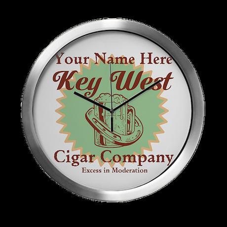 Key West Cigar Company Modern Wall Clock