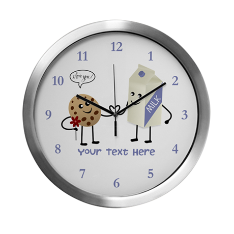 Milk and Cookie Couple Modern Wall Clock