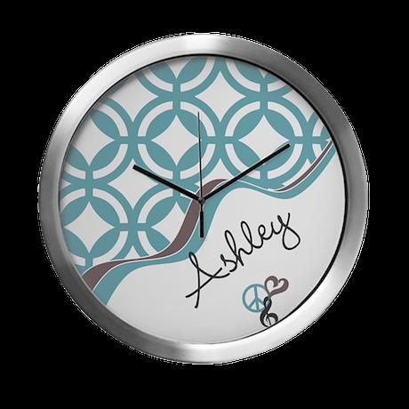 Custom Name Pattern Modern Wall Clock