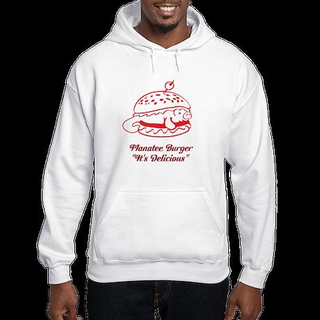 Manatee Burger Hooded Sweatshirt