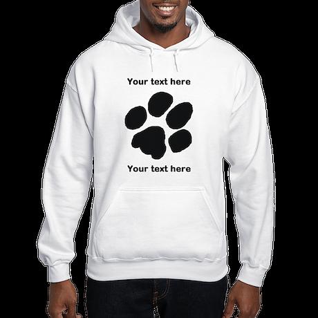 Pawprint - Customisable Hooded Sweatshirt