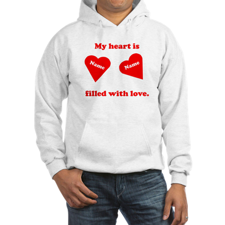 Personalized My Heart Filled Hooded Sweatshirt