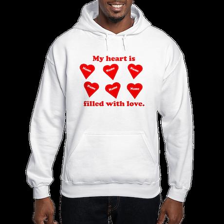 Personalized My Heart Filled Hooded Sweatshirt