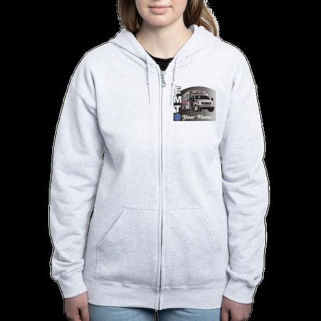 Custom Personalized EMT Women's Zip Hoodie