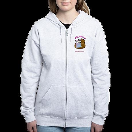 Personalized Panda Sisters Women's Zip Hoodie
