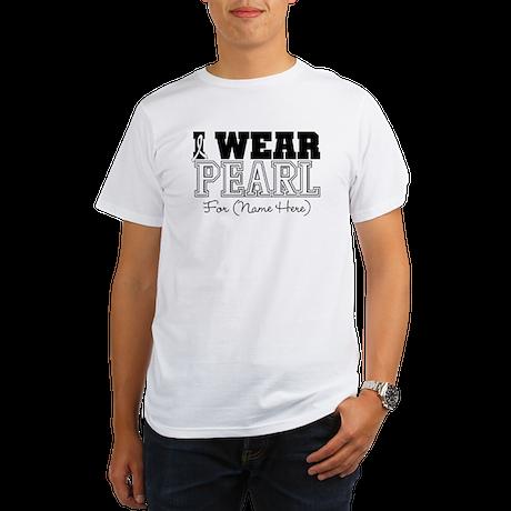 Custom Lung Cancer Organic Men's T-Shirt