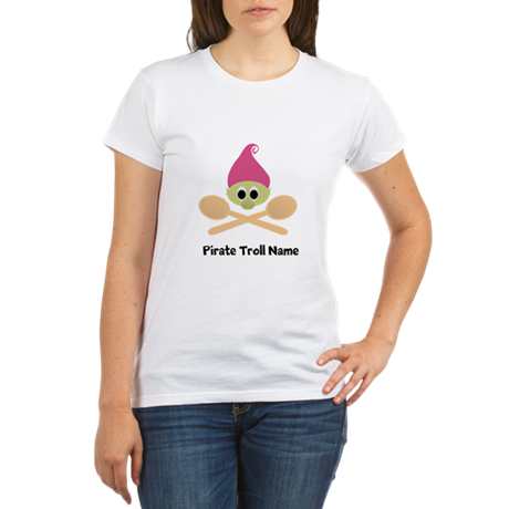 Cute Dangerous Troll Organic Women's T-Shirt