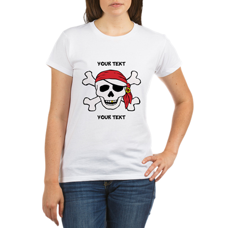 PERSONALIZE Funny Pirate Organic Women's T-Shirt
