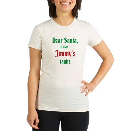 Letter To Santa Organic Women's Fitted T-Shirt
