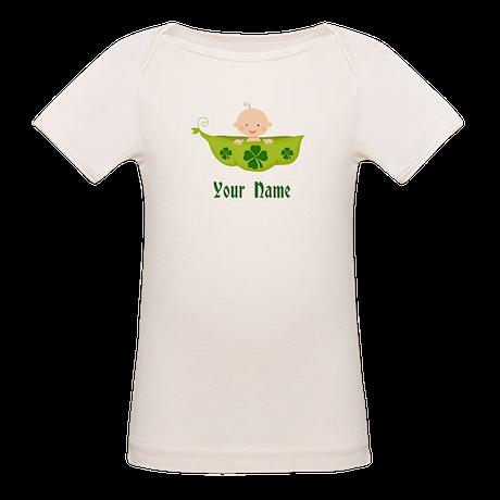 Personalized St Patricks Baby Organic Baby T-Shirt