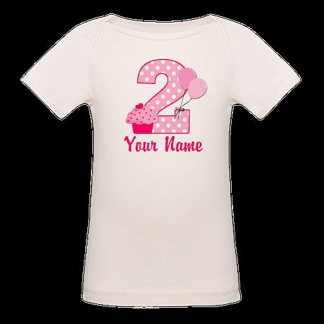2nd Birthday Cupcake Organic Baby T-Shirt