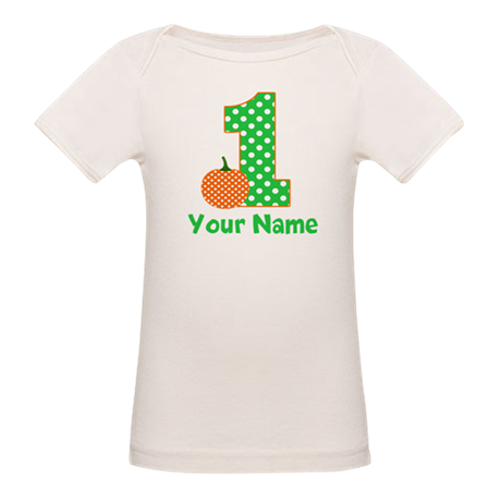 1st Birthday Pumpkin Green T-Shirt