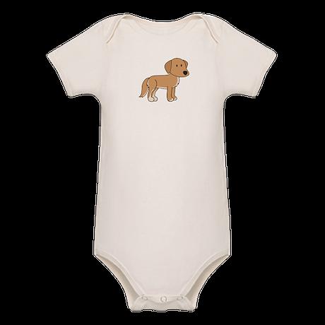 Cute Retriever Organic Baby Bodysuit