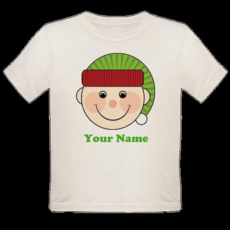 Personalized Christmas Elf Organic Toddler T-Shirt