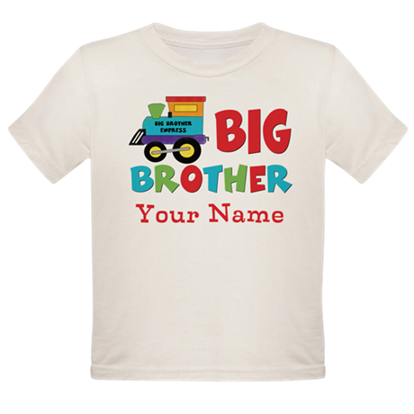 Big Brother Train Personalized Organic Toddler T-S