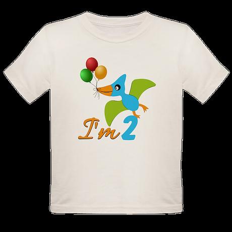 Custom Animal Birthday Organic Toddler T-Shirt