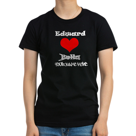 Edward Loves Me Women's Fitted T-Shirt (dark)