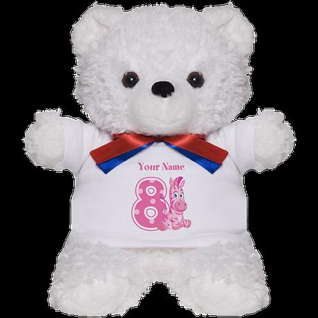 Pink Zebra 8 Teddy Bear