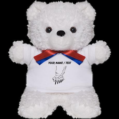 Custom Grizzly Bear Paw Teddy Bear