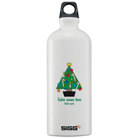 Personalized Christmas Tree Sigg Water Bottle 1.0L