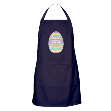 Your Text Easter Egg Apron (dark)